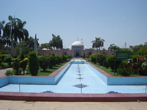 The Shah Jahan Mosque view from the gardens. Credit: Wikipedia