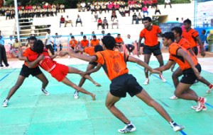 Kabaddi, a type of wrestling game, is played throughout Pakistan. Credit: Wikipedia